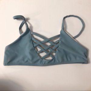 Baby blue bikini top 🦋